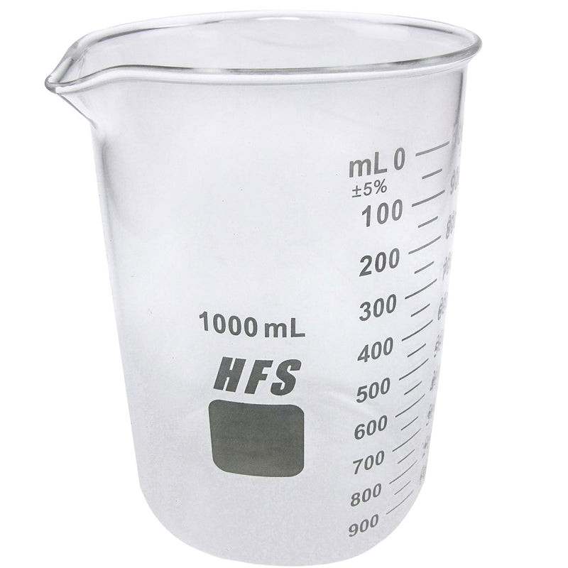 Hardware Factory Store Inc - Graduation Glass Beaker with Spout - 1L
