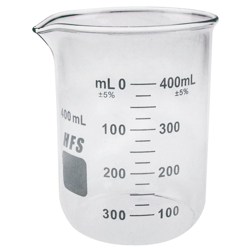 Hardware Factory Store Inc - Graduation Glass Beaker with Spout - 400ML