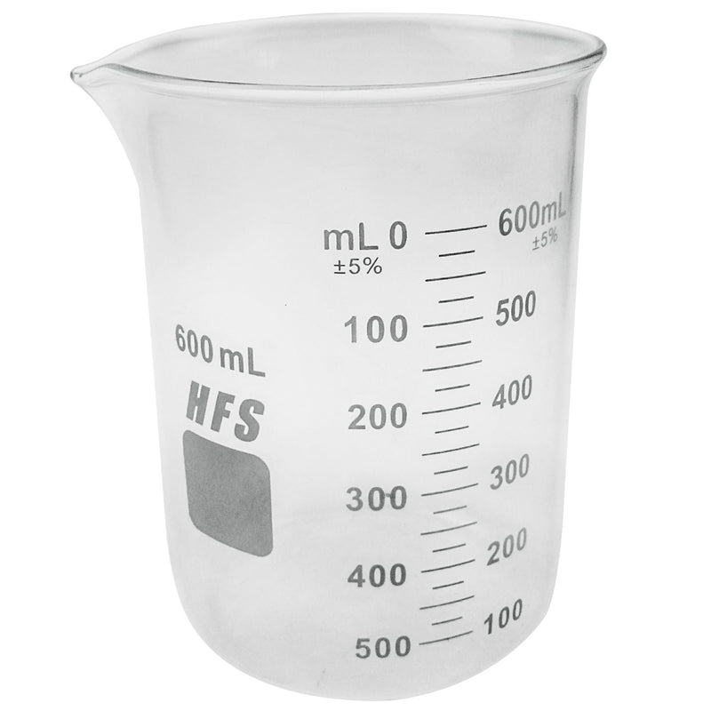 Hardware Factory Store Inc - Graduation Glass Beaker with Spout - 600ML