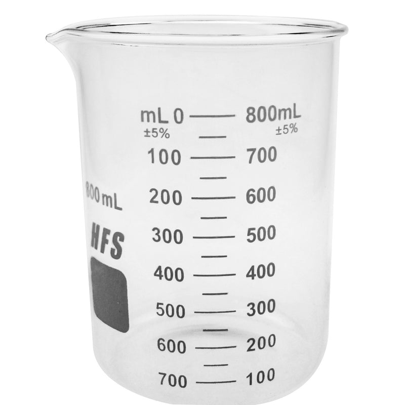 Hardware Factory Store Inc - Graduation Glass Beaker with Spout - 800ML