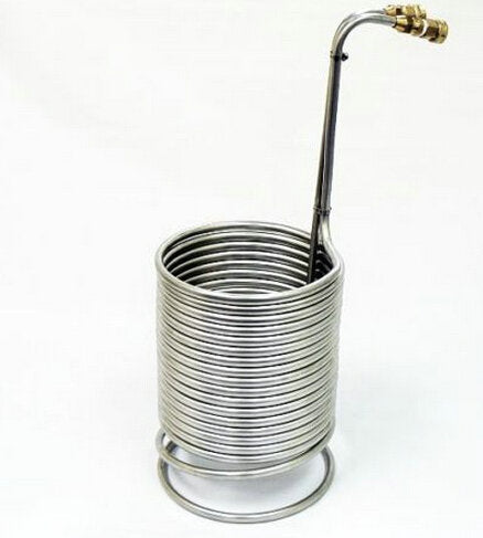 "Hardware Factory Store Inc - 1/2"" x 50ft Stainless Wort Chiller with Garden Hose Fittings - Homebrew Beer - [variant_title]"