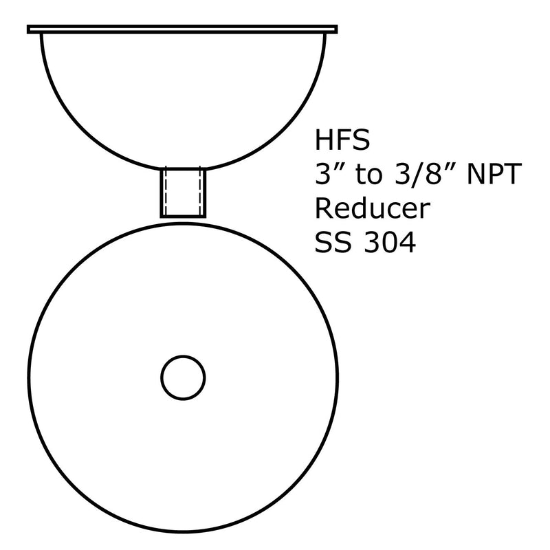 Tri Clamp To NPT Hemispherical Bowl Reducers