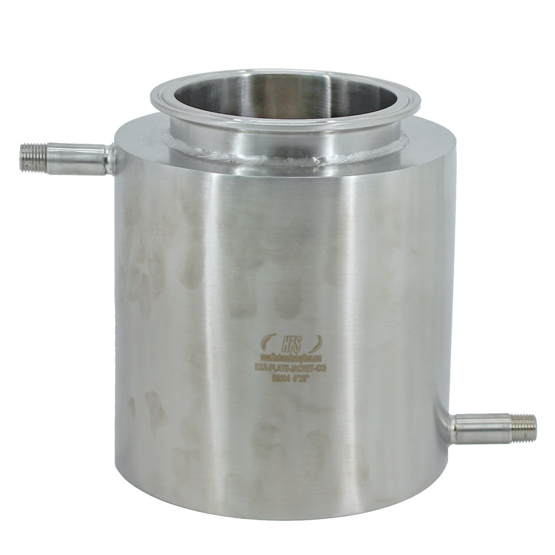 "Hardware Factory Store Inc - Stainless Steel Tri Clamp Jacketed Collection Plate, 4x6"" - [variant_title]"