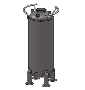 Jacketed Storage Tank With Drop-Down Heat Exchanger, 16x48IN ASME STANDARD