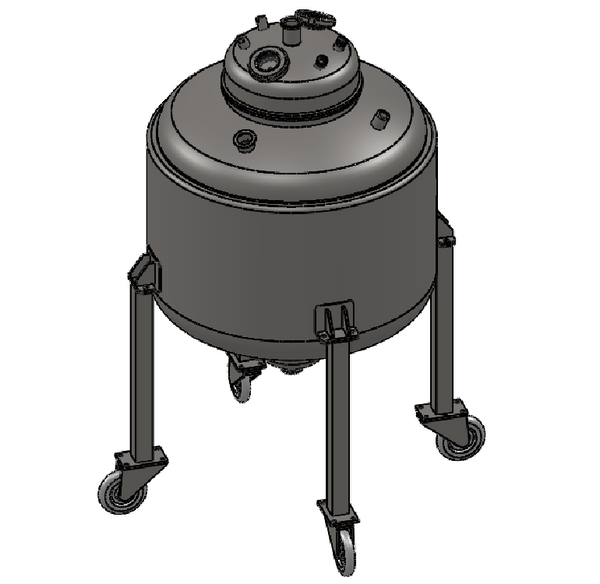 Hardware Factory Store Inc - HFS (R) 24X24 Bottom Spout Base with Spherical Lid and Jacketed - [variant_title]