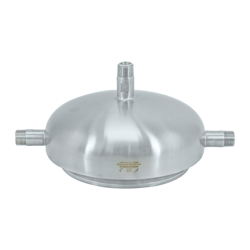 "304 Stainless Steel 6"" Quick Lock, Jacket Lid (One Hole 1/2"" NPT)"