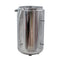 "304 Stainless Steel Base Container 12"" Diameter by 36"" tall"