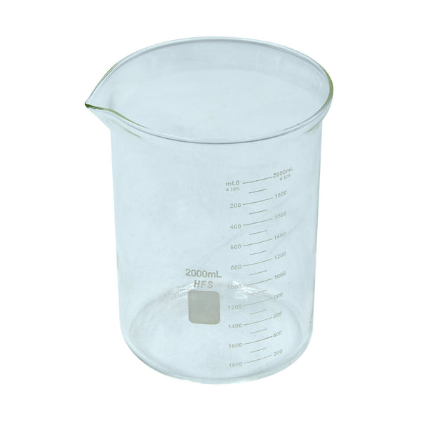 Hardware Factory Store Inc - Graduation Glass Beaker with Spout - 2L