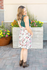 Vintage Floral and Stripes Tank Dress