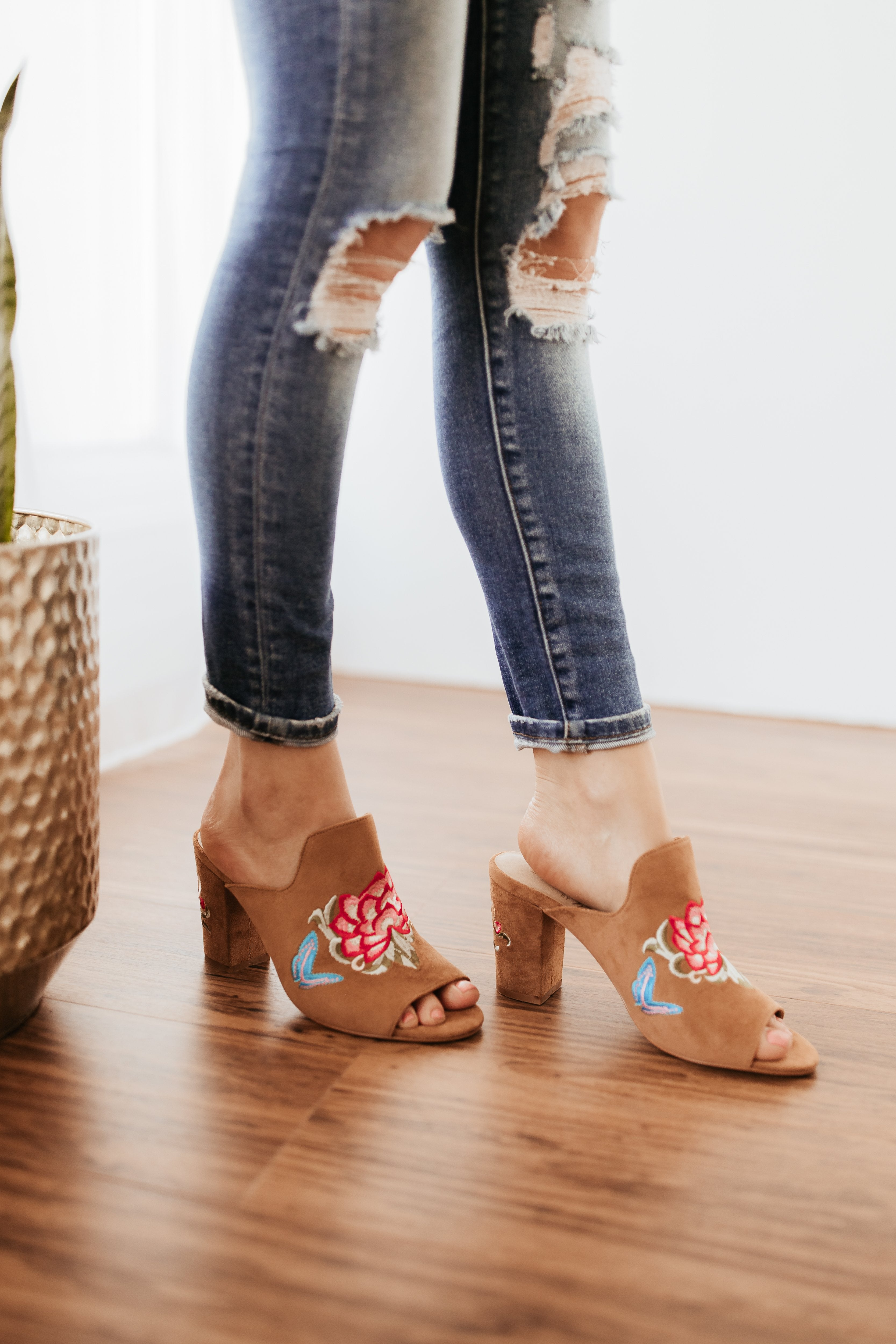 Matisse Frill Embroidered Mule-Boots*-Matisse-[option4]-[option5]-[option6]-[option7]-[option8]-Shop-Boutique-Clothing-for-Women-Online