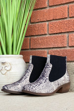 Corkys Hanover Booties in Black Snake-Boots-Corkys-8.0-[option4]-[option5]-[option6]-[option7]-[option8]-Shop-Boutique-Clothing-for-Women-Online