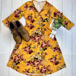 Taylor Dress - Mustard Floral-dress-Michelle Mae-[option4]-[option5]-[option6]-[option7]-[option8]-Shop-Boutique-Clothing-for-Women-Online