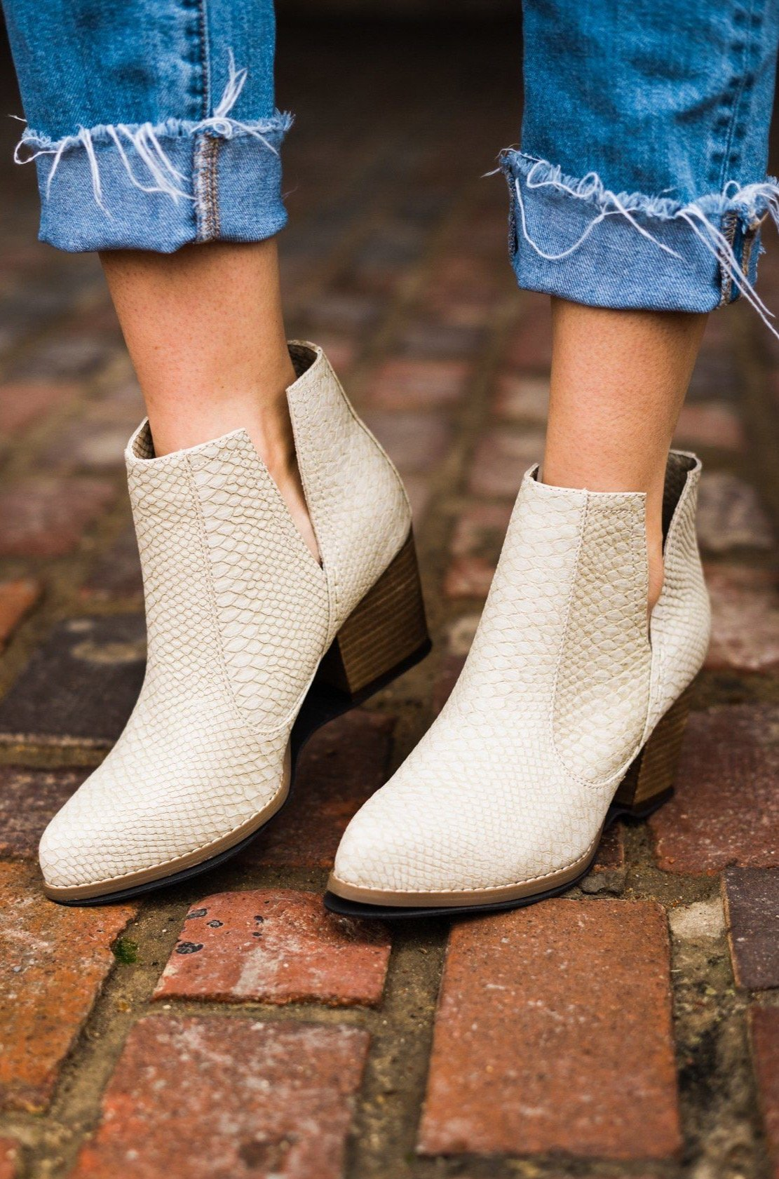 Not Rated Tarim Bootie in Cream-Boots-Not Rated-[option4]-[option5]-[option6]-[option7]-[option8]-Shop-Boutique-Clothing-for-Women-Online
