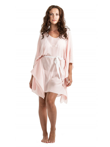 Cover-up - Silk Tie - Blush