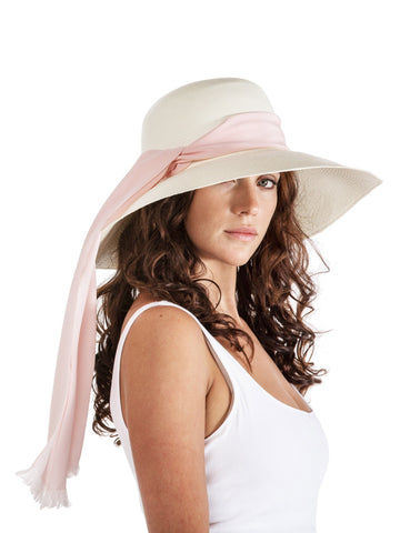 Wide-brim Panama - Blush