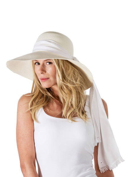 Wide-brim Panama - White