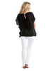 Split-sleeve Top - Black