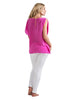 Split-sleeve Top - Deep Pink