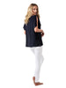Split-sleeve Top - Navy