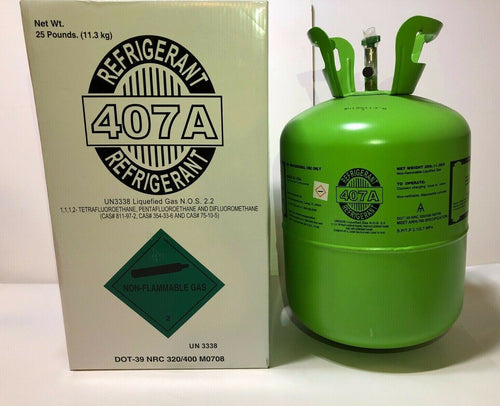 Brand New Pallet of 407A Refrigerant 40 x 25lb Cylinders FREE FREIGHT!