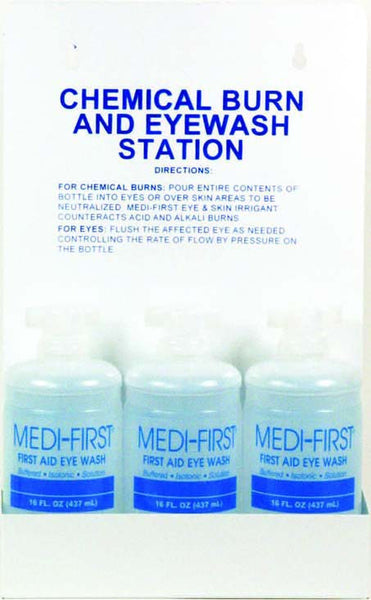 Medi-Wash Station with Three 16 oz. Bottles