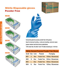 Nitrile Gloves Powder Free Large