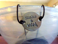 Make a wish disc bracelet