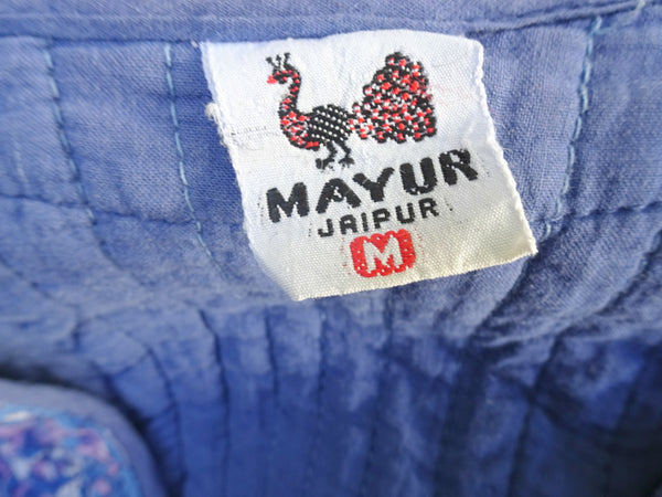 *Mayur, Jaipur* Vintage 1970s Block Printed Quilted Cotton Waistcoat