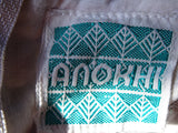 Vintage Anokhi Sun Dress Indian Cotton Block Print Midi