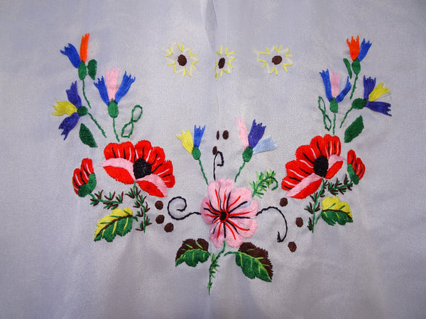 Vintage 1970s Hippie Folk Inspired Hand Embroidered Peasant Blouse