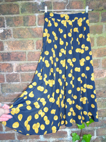 Vintage 1980s Novelty Print Coin Skirt by Windsmoor