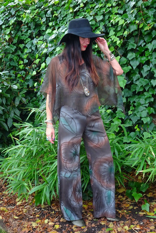Vintage 1970s Super Funky ILGWU Label Catsuit