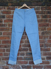 "*Jean Genie* Vintage 1960s Winfield ""Empire Made"" Denim Jeans With Turn-ups"