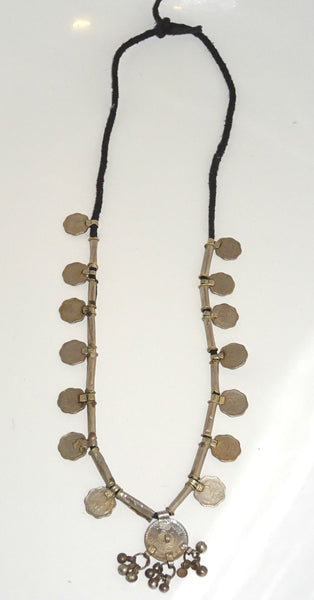 *Totally Tribal* Vintage Banjara Indian Rupee Coin Necklace