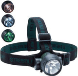 Trident Headlamp with 2 White and 1 Green LEDs