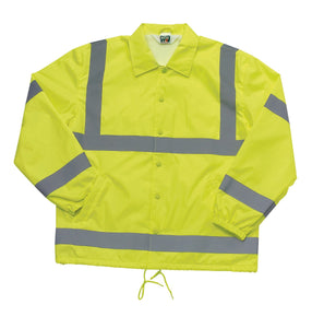 Liberty Uniform Class 3 ANSI Compliant Hi-Visibility Lined Windbreaker Uniform Apparel, USA Made