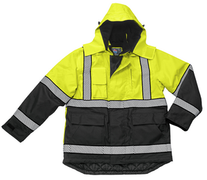 Liberty Uniform Class 3 ANSI Compliant Hi-Visibility Polar Parka With Removable Hood Uniform Apparel
