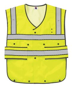 Liberty Uniform Class 2 ANSI Compliant Hi-Visibility Safety Vest Adjustable length, USA Made