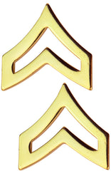 Tactical 365® Operation First Response Pair of Corporal Rank Insignia Pins for Police or Military