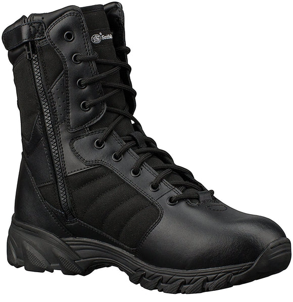 Smith & Wesson® Footwear Breach 2.0 Side Zip Tactical Boots - Black