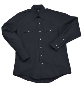 Liberty Uniform Mens Long Sleeve Comfort Zone Police Shirt Uniform Apparel Navy