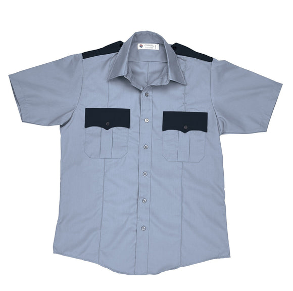 Liberty Uniform Short Sleeve Two-Tone Police Shirt Permanent Press Uniform Apparel, USA Made