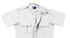 Liberty Uniform Short Sleeve Zipper Shirt Stain Repellent Uniform Apparel, USA Made