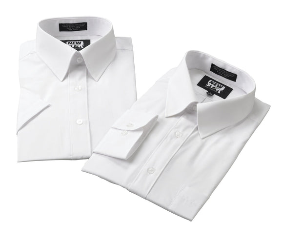 Liberty Uniform Men's Short Sleeve Dress Shirt Stain Resistant Formal Attire White
