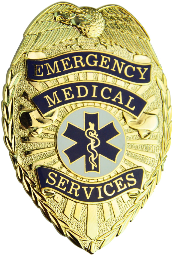 Tactical 365® Operation First Response EMS Paramedic Shield Badge with Colored Star of Life