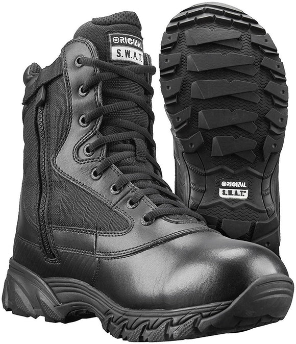 Original S.W.A.T. Men's Chase 9 Inch Waterproof Side-Zip Military and Tactical Boot - Black