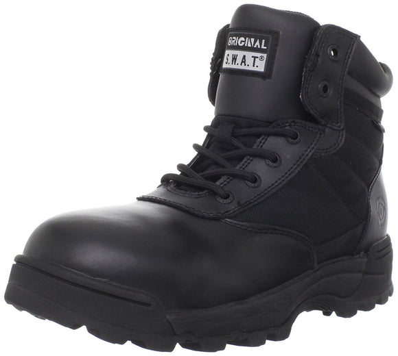Original S.W.A.T. Men's Classic 6 Inch Waterproof Side-zip Safety Tactical Boot - Black