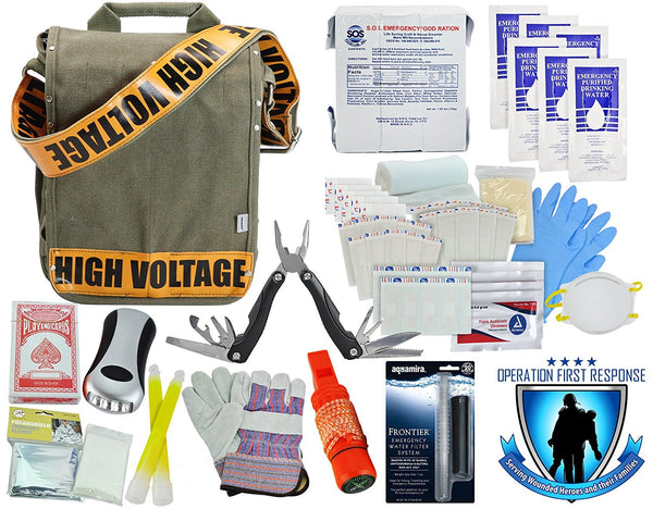 Tactical 365 Limited Edition Emergency Preparedness Grab and Go Bug Out Bags Voltage