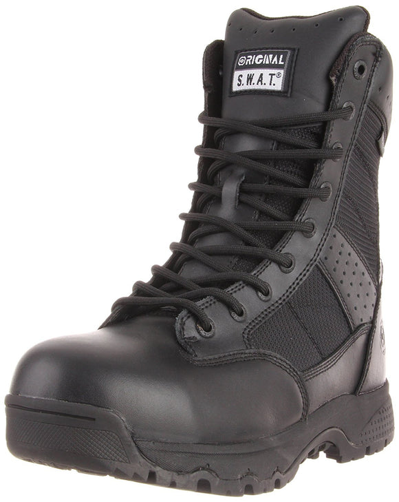 Original S.W.A.T. Men's Metro 9 Inch Waterproof Side-zip Safety Tactical Boot - Black