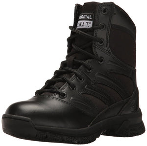 "Original S.W.A.T. Men's Force 8"" Side Zip Military and Tactical Boot - Black"
